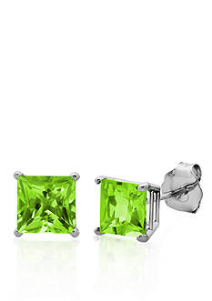 Belk & Co. 10k White Gold Peridot Stud Earrings