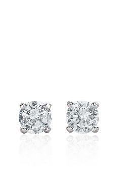 Belk & Co. 14k White Gold 1/4 ct. t.w. Cubic Zirconia Earrings