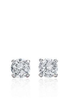 Belk & Co. 14k White Gold 1/4 ct. t.w. Cubic Zirconia Earrings