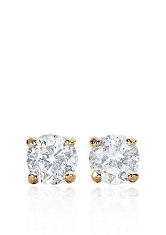 Belk & Co. 14k Yellow Gold 1/4 ct. t.w. Cubic Zirconia Earrings