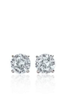 Belk & Co. 14k White Gold 1/2 ct. t.w. Cubic Zirconia Earrings