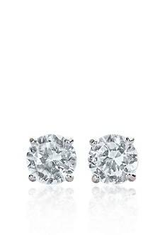 Belk & Co. 14k White Gold 1/2 ct. t.w. Cubic Zirconia Earrings