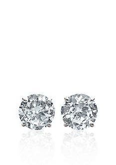 Belk & Co. 14k White Gold 1-1/2 ct. t.w. Cubic Zirconia Earrings