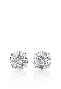 Belk & Co. 14k White Gold 2-1/2 ct. t.w. Cubic Zirconia Earrings