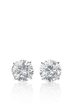 Belk & Co. 14k White Gold 2.00 ct. t.w. Cubic Zirconia Earrings