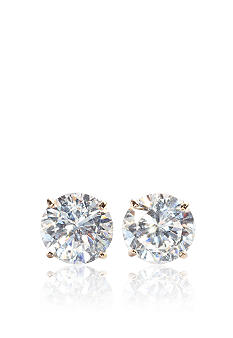Belk & Co. 14k Yellow Gold 2.00 ct. t.w. Cubic Zirconia Earrings