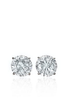 Belk & Co. 14k White Gold 4.00 ct. t.w. Cubic Zirconia Earrings