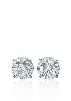 Belk & Co. 14k White Gold 4.00 ct. t.w. Cubic Zirconia Earrings