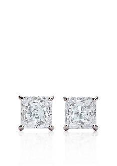 Belk & Co. 14k White Gold 1 ct. t.w. Princess Cut Cubic Zirconia Earrings