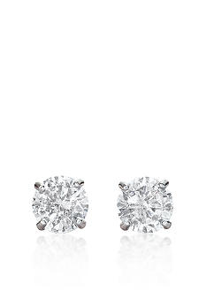 Belk & Co. 14k White Gold 1 ct. t.w. Cubic Zirconia Earrings