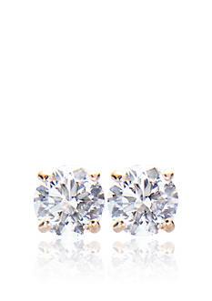 Belk & Co. 14k Yellow Gold 1.00 ct. t.w. Cubic Zirconia Earrings