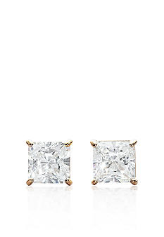 Belk & Co. 14k Yellow Gold 2.00 ct. t.w. Princess Cut Cubic Zirconia Earrings