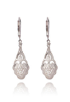 Belk & Co. Diamond Dangle Earrings in Sterling Silver