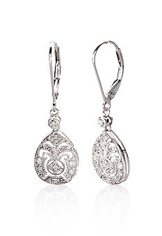 Belk & Co. Sterling Silver Diamond Drop Earrings