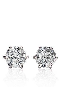 Belk & Co. 1/3 ct. t.w. Diamond Stud Earrings in 14k White Gold