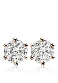 Belk & Co. 1/2 ct. t.w. Diamond Stud Earrings in 14k Yellow Gold