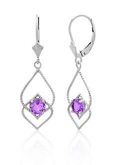 Belk & Co. Sterling Silver Amethyst Earrings