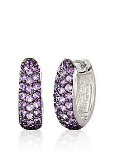 Belk & Co. Sterling Silver Amethyst Hoop Earrings