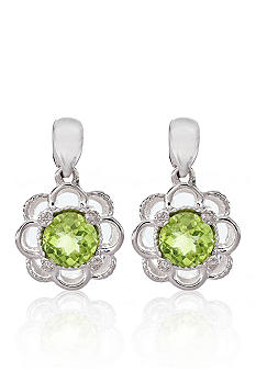 Belk & Co. Sterling Silver Peridot Earrings