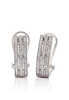 Belk & Co. 1/4 ct. t.w. Diamond Hoop Earrings in Sterling Silver