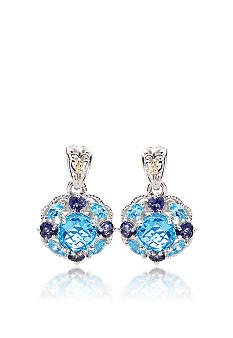 Belk & Co. Sterling Silver Blue Topaz and Iolite Earrings