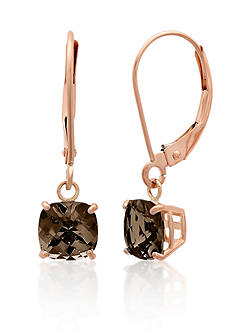 Belk & Co. 10k Rose Gold Smokey Quartz Earrings