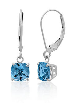 Belk & Co. 10k White Gold London Blue Topaz Earrings