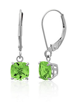 Belk & Co. 10k White Gold Peridot Earrings
