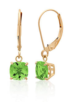 Belk & Co. 10k Yellow Gold Peridot Earrings