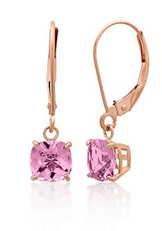 Belk & Co. 10k Rose Gold Pink Amethyst Earrings