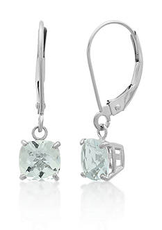 Belk & Co. 10k White Gold Aquamarine Earrings