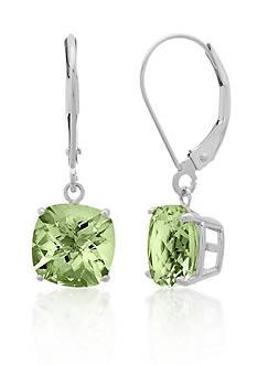Belk & Co. 10k White Gold Green Amethyst Earrings