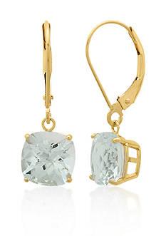 Belk & Co. 10k Yellow Gold Aquamarine Earrings