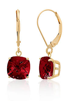 Belk & Co. 10k Yellow Gold Garnet Earrings