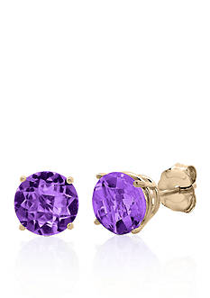 Belk & Co. 10k Rose Gold Amethyst Stud Earrings
