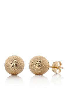Belk & Co. 14k Yellow Gold Ball Stud Earrings