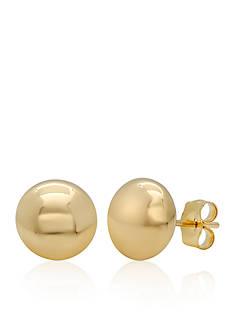 Belk & Co. 14k Yellow Gold Flat Ball Stud Earrings