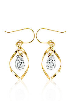 Belk & Co. Swarovski Crystal Earrings in 10k Yellow Gold