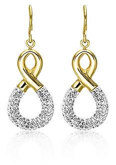 Belk & Co. 10K Yellow Gold Figure 8 Crystal Earrings
