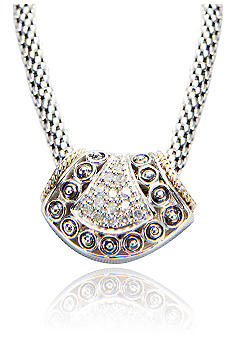 Belk & Co. 1/5 ct. t.w. Diamond Pendant in Sterling Silver with 14k Gold