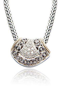 Belk & Co. 1/5 ct. t.w. Diamond Pendant in Sterling Silver with 14k Gold