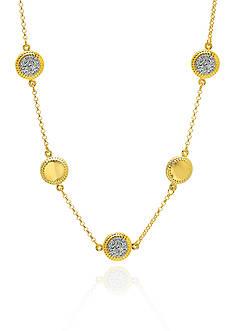 Belk & Co. 10k Yellow Gold White Swarovski Crystal Necklace
