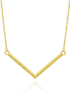 Belk & Co. 10k Yellow Gold Arrow Bar Necklace
