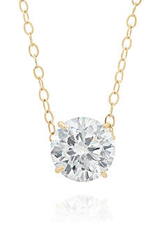 Belk & Co. Cubic Zirconia Pendant in 14k Yellow Gold
