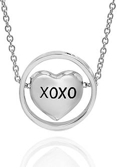 Belk & Co. Sterling Silver XOXO Heart Necklace