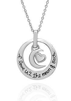 Belk & Co. Sterling Silver Moon and Heart Pendant
