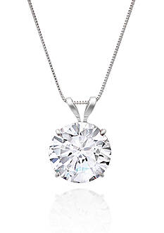 Belk & Co. 14k White Gold 9mm Cubic Zirconia Pendant