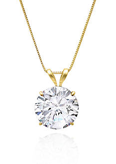 Belk & Co. 14k Yellow Gold 9mm Cubic Zirconia Pendant