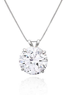 Belk & Co. 14k White Gold 10mm Cubic Zirconia Pendant