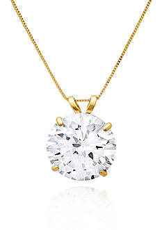 Belk & Co. 14k Yellow Gold 10mm Cubic Zirconia Pendant